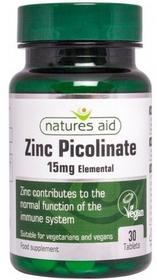 Natures Aid Cynk Picolinate Elementarny 15mg (30 tabletek) Nature's Aid