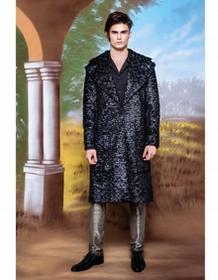 MALE-ME Płaszcz z tkaniny imitującej sprasowane pióra