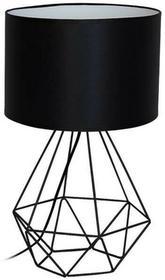 Milagro Stołowa LAMPA stojąca ALAMBRE 1112 druciana LAMPKA abażurowa czarna 1112