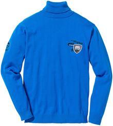 Bonprix Sweter z golfem Regular Fit lazurowy