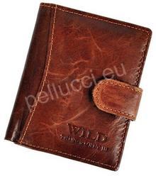 Pellucci Portfel męski skórzany Wild Things 5131-1/5505-1 Brązowy - brązowy Things 5131-1/5505-1 brązowy-0