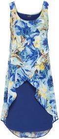 Bonprix Sukienka z kwiatowym nadrukiem kobaltowy z nadrukiem