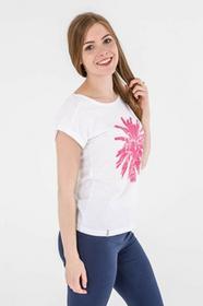 4F Koszulka damska H4L17-TSD010 biały roz XS H4L17-TSD010)