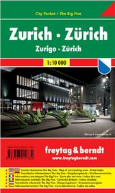 Freytag&Berndt Zurych city pocket mapa 1:10 000 Freytag & Berndt