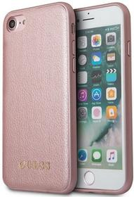 Guess Iridescent - Etui iPhone 8 / 7 (różowo złoty) GUHCI8IGLRG