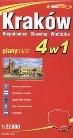 ExpressMap  Kraków 1:22 000 plan miasta 4 w 1