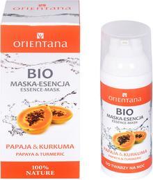 Orientana Bio Maska-Esencja do Twarzy Papaja i Kurkuma ORI-5100