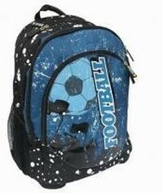 Eurocom Plecak szkolny ergonomiczny Football blue STREET