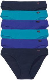 Bonprix Figi (6 par) szafirowy+ciemnoturkusowy+ciemnoniebieski