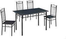 Lectus Zestaw stołowy Marwit 4 krzesła imitacja kamienia