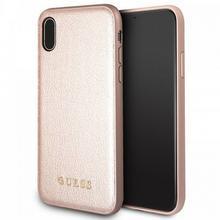 Guess Iridescent - Etui iPhone X (różowo złoty) GUHCPXIGLRG