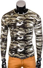 Ombre Clothing Longsleeve L70 - ZIELONY/MORO