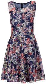 Bonprix Sukienka ciemnoniebiesko-różowy w kwiaty