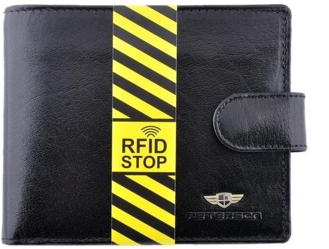 275123f499366 Peterson Portfel męski 334-RFID-2-1-1X czarny 334-RFID-2-1-1X – ceny ...