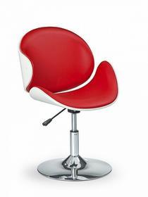 Halmar Fotel obrotowy czerwono biały