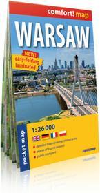 ExpressMap praca zbiorowa comfort! map Warszawa (Warsaw). Laminowany, kieszonkowy plan miasta