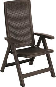 ALLIBERT Krzesło ogrodowe Montreal brązowy