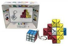 TM Toys gra zręcznościowa Kostka Rubika brelok+układanka Triamid