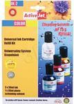 ActiveJet UK-2 kolorowy. uniwersalny system uzupełnień 3x30 ml + płyn do czyszcz