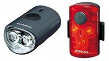 Topeak Bicycle Light  Combo WHIT Elite Mini/Mini USB Black by Topeak RedLite TMS080
