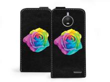 Motorola etuo Flip Fantastic - Moto E4 - etui na telefon Flip Fantastic - kolorowa róża