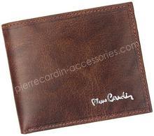 Pierre Cardin Portfel męski skórzany FOSSIL TILAK12 8824 RFID Brązowy - brązowy FOSSIL TILAK12 8824 RFID brązowy-0