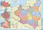 Historia Polski - mapa ścienna podręczna