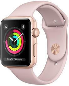 Apple Watch Series 3 GPS, 42mm, złoty z różowym sportowym paskiem - Darmowa dostawa!