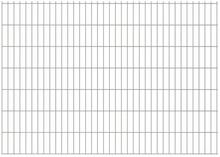 vidaxl Panele ogrodzeniowe 2D, 2008x1430 mm, 18 m, srebrne