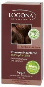 Logona Roślinna farba do włosów w proszku NUSSBRAUN-KASTANIE (orzechowy brąz / kasztan) 173 1105