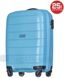 Puccini Mała kabinowa walizka MADAGASCAR PP013C 7 Błękitna - błękitny PP013C 7