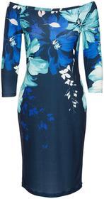 Bonprix Sukienka w kwiaty niebieski