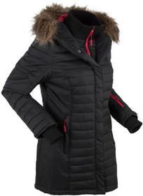Bonprix Długa kurtka outdoorowa pikowana czarny