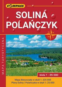 Wydawnictwo Compass Mapa laminowana Solina, Polańczyk, Bieszczady, skala 1:25000, 1:225000, wydnie IV praca zbiorowa
