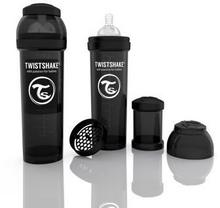 Twistshake Butelka antykolkowa, czarna 330ml