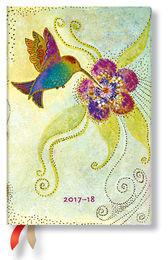 Paperblanks Kalendarz 2017-18 18-mc Hummingbird Mini