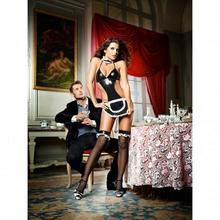Baci Lingerie Przebranie pokojówki - Baci At Your Service French Maid Set One Size BC029A