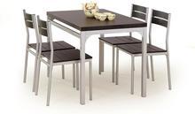 Halmar Zestaw kuchenny Malcolm: stół z 4 krzesłami - 2 kolory
