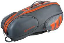 a486da9fb5f25 -27% Wilson Torba tenisowa Burn Reverse 9 Pk Bag - grey/orange WRZ844709