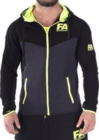 Fitness Authority FA Hoodie Jacket 01 Basic DarkGrey NeonFlash S 6431