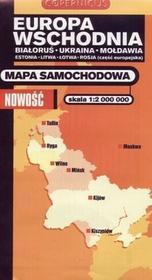 PPWK praca zbiorowa Europa Wschodnia. Mapa samochodowa w skali 1:2 000 000