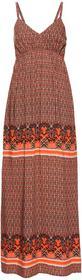 Bonprix Długa sukienka pomarańczowy wzorzysty