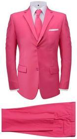 vidaXL 2-częściowy garnitur męski z krawatem różowy rozmiar 50