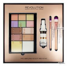MAKEUP REVOLUTION - PRO AMPLIFIED SCULPT AND FIX KIT - Zestaw do konturowania twarzy i utrwalania makijażu
