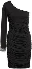 Bonprix Sukienka na jedno ramię czarny