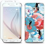 Samsung Full Body Slim Fantastic - Galaxy S6 - etui na telefon Full Body Slim Fantastic - ptaki na kwiatach ETSM172FBSFFC086000