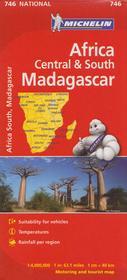 Afryka Centralna i Południowa plus Madagaskar mapa 1:4 000 000 Michelin
