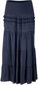 Bonprix Długa spódnica ciemnoniebieski