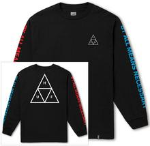 HUF t-shirt HUF MULTI TRIPLE TRIANGLE LS TEE BLACK