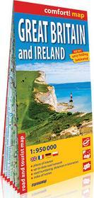 ExpressMap Great Britain and Ireland laminowana mapa samochodowo-turystyczna 1:950 000 - Expressmap